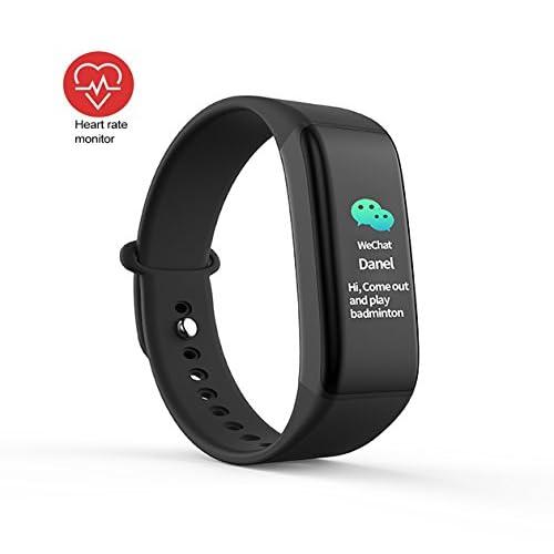 ZHAGOO Fitness Tracker - Imperméable À L'eau, Podomètre D'affichage Couleur Tactile - Bluetooth Smart Bracelet, Moniteur De Sommeil Android Et Ios Smartphones (Noir)