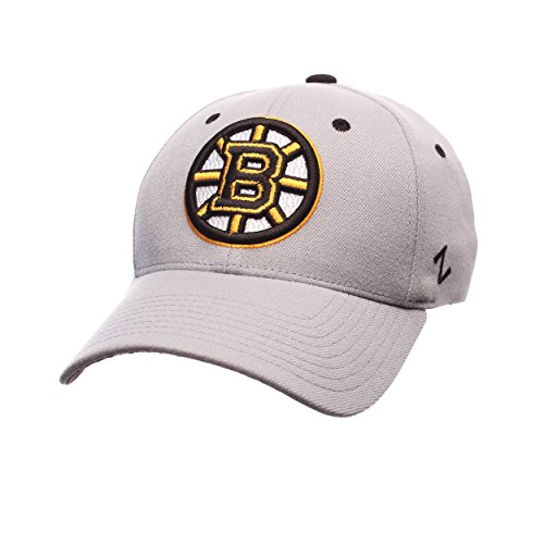 - Zephyr NHL Boston Bruins Men's Breakaway Cap, Large, Gray