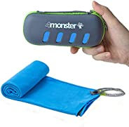 4monster Microfiber Travel Towel, Lightweight Gym Towel, Super Absorbent, Quick Drying, Soft, Suitable for Gol