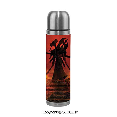 Stainless Steel Vcuum Flask Barbarian Evil Demonic Character Fictional Video Game Person Scary Artsy Graphic Stainless Steel Cup Tumblers Bridesmaid Proposal 17.5 oz / 500ml]()