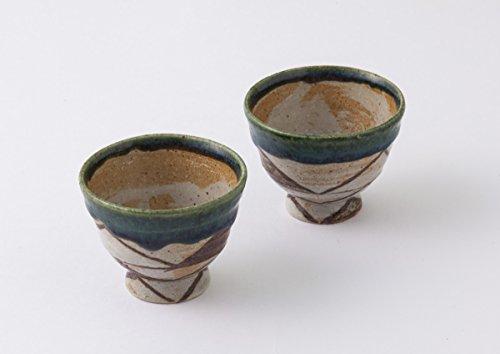 TOKYO ART GALLERY ISHIHARA - HIROSHI YAMAZAKI : Sake Bottle & 2 Cup Set (B) Japanese Pottery Ceramic [Standard ship by Int'l e-packet: with Tracking & Insurance] by Tokyo Art Gallery ISHIHARA (Image #2)