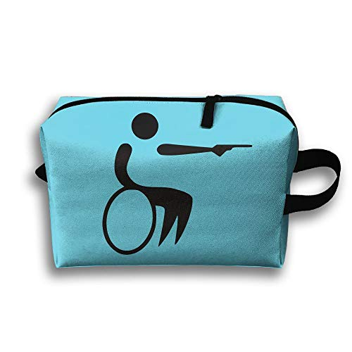 Gun Wheelchair Cosmetic Bags Makeup Organizer Bag Pouch