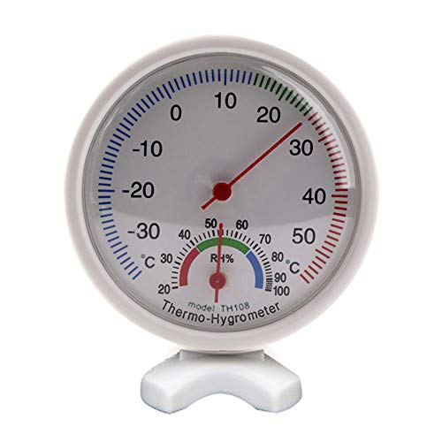 LamicAR Round Indoor Analog Humidity Temperature Meter Gauge Thermometer Hygrometer