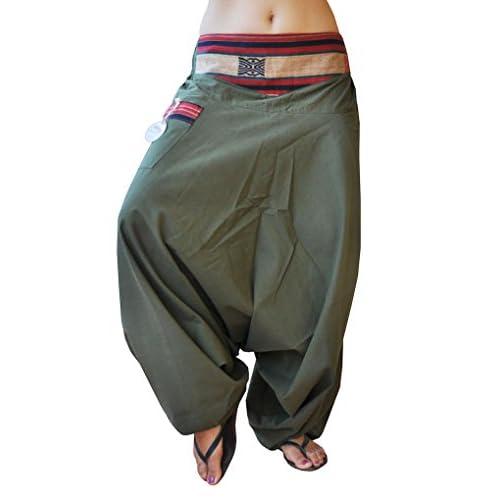 Pantalones bombachos hombre y mujer virblatt con tejidos tradicionales  talla única pantalones cagados con cómodo cinturón 8a382970c184