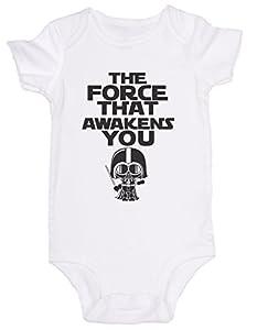 """The Force That Awakens You"" Star Wars / JoviGear / Baby Onesie Romper Bodysuit"
