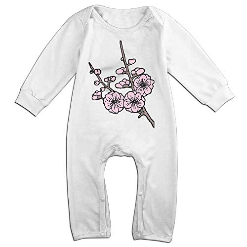 Baby Boy Bodysuits Cherry Blossom Clipart-1 Infant Long Sleeve Romper Jumpsuit