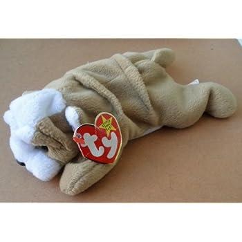 Amazon.com  TY Beanie Babies Wrinkles the Bull Dog Plush Toy Stuffed ... 4faff63c1608