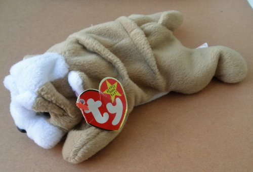 TY Beanie Babies Wrinkles the Bull Dog Plush Toy Stuffed Animal