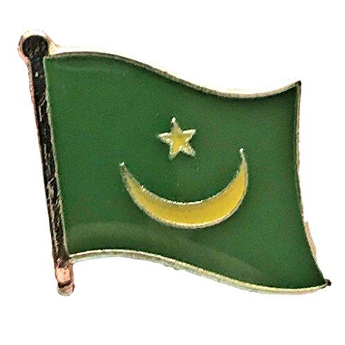 "Backwoods Barnaby Mauritania Flag Lapel Pin (0.75"" x 0.75"")"
