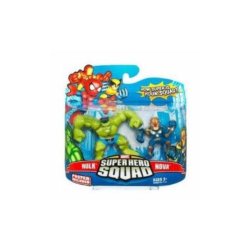 (Marvel Superhero Squad Series 15 Mini 3 Inch Figure 2-Pack Hulk and Nova)