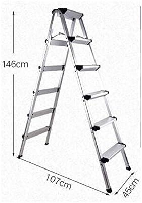 Escalera de Aluminio, Escalera Plegable hogar espesó Escalera de ...