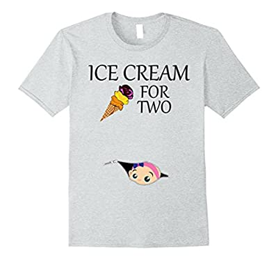 Ice Cream for Two Maternity Shirt | Funny Tee Pregnant Moms