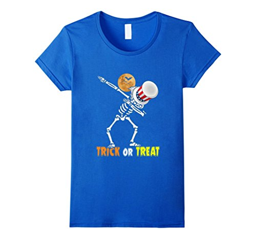 Father And Toddler Son Halloween Costumes (Womens Funny Trick or Treat T-shirt Best Halloween Costume Gift Tee Small Royal Blue)