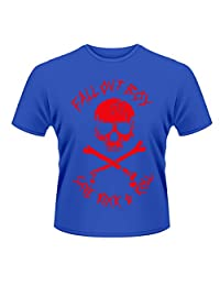 Fall Out Boy T Shirt Skull And Crossbones band logo mens new Official blue