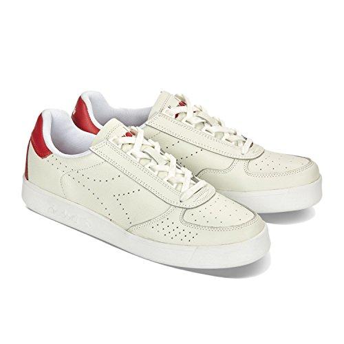 Collo L Uomo Sneaker Bianco C5147 B Basso Diadora rosso Peperone Premium a Elite FaqYx1ZwB