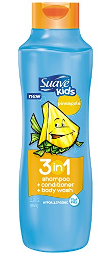 Enfants Suave 3 en 1 Shampooing + Conditioner + Body Wash, Ananas 22,5 oz