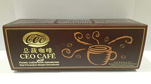- 1 Box CEO Shuang Hor Double Crane Cafe 4 in 1 No Sugar Premix Lingzhi Coffee 20 Sachets x 21g