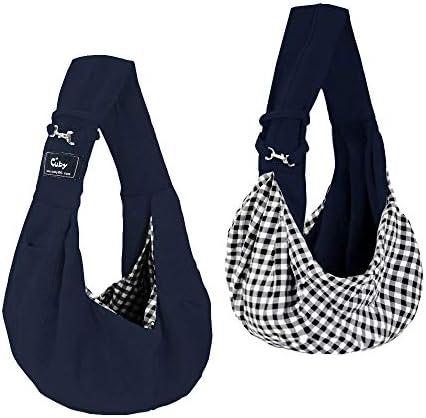 Cuby Pet Sling Carrier, Adjustable Sling Bag, Dog Cat Outdoor Shoulder Carrier Bag Blue 2