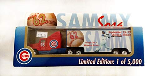 Chicago Cubs 1998 Limited Edition Sammy Sosa Commemorative Die Cast Tractor Trailer Collectible