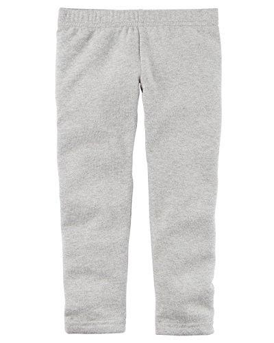 Carters Girl Sparkle Cozy Fleece Leggings (Gray, 3T) -