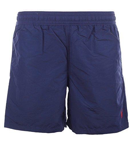 Polo Ralph Lauren Mens Logo Shorts Swim Trunks (Newport Navy, Small)