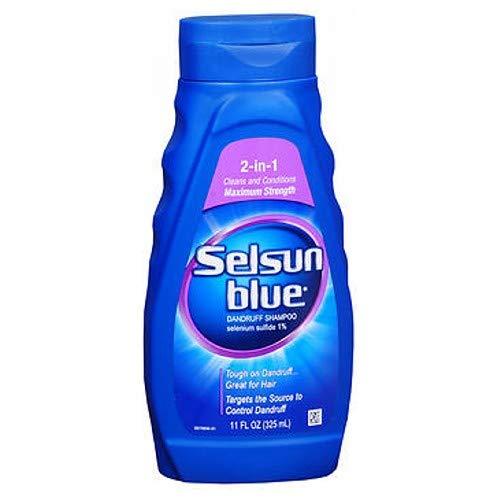 Selsun Blue Shampoo Naturals Dandruff 2-In-1 Strength 11 Ounce (325ml) (6 Pack)