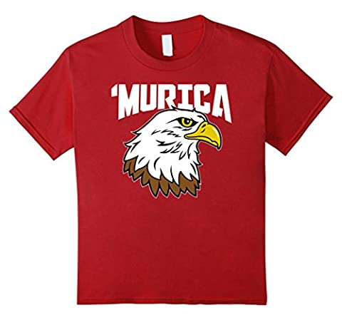 unisex-child American Citizen Gifts - Murica Eagle 4th of July USA Pride 8 Cranberry (Citizen Flag Band)