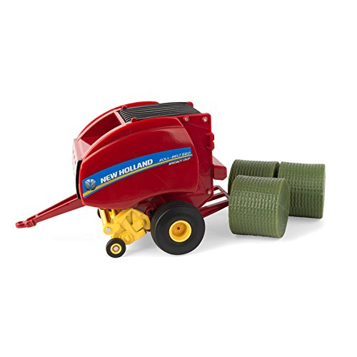 ERTL 1/32 New Holland Roll-Belt 560 Round Baler with 3 (New Holland Round Baler)