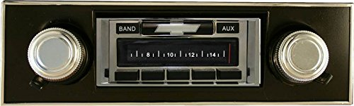 1967-1968 Chevrolet Camaro with BLACK Dash Custom Autosound USA-230 AM//FM Stereo Radio 200 watts