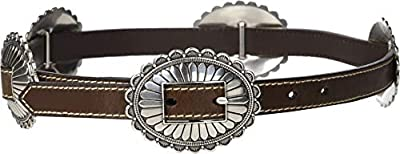 M&F Western Women's Nocona Oval Concho Belt Brown XL