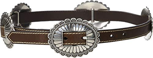 M&F Western Women's Nocona Oval Concho Belt Brown LG