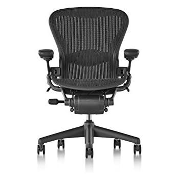 Herman Miller Classic Aeron Chair   Fully Adjustable, A Size, Adjustable  Lumbar, Carpet