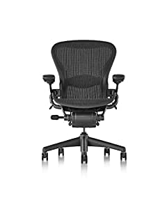 Herman Miller Classic Aeron Chair - Fully Adjustable, B size, Adjustable Lumbar, Carpet Casters