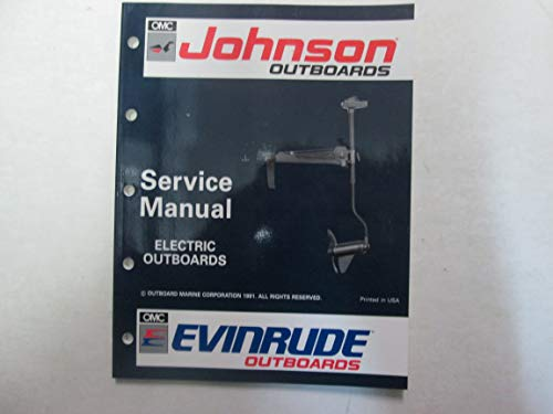 1992 Johnson Evinrude Electric Outboards Service Repair Shop Manual 508140 ***