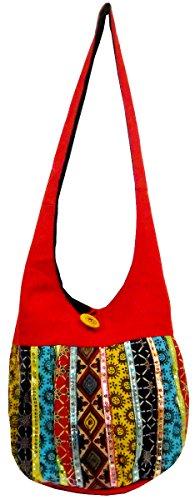 Hand Made Banjara Boho Jhola Indian Cotton Sling Patchwork Shoulder Bag #268