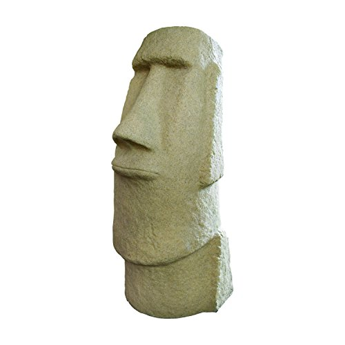 "Cedar Looks Dining Chair (EMSCO Group Easter Island Head Statue – Natural Sandstone Appearance – Made of Resin – Lightweight – 28"" Height)"