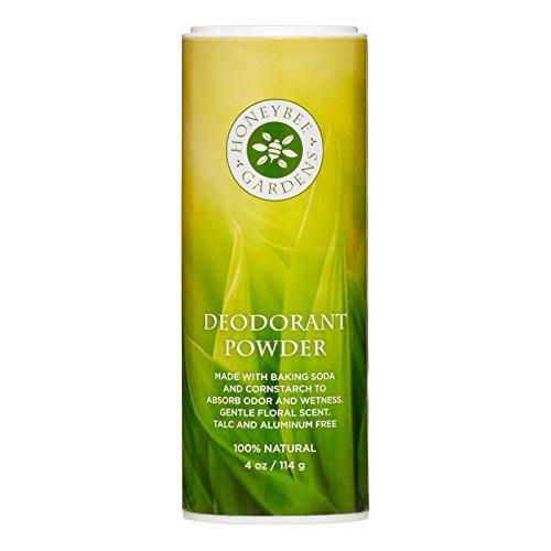 Honeybee Gardens - Deodorant Powder, Aluminum and Talc Free, 4 oz/114 (Aluminum Honey)