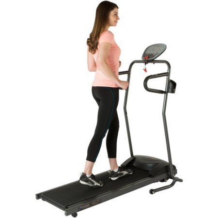 Fitness Reality TRE5000 Compact Slim Line Running and Walking Electric Treadmill with Heart Pulse System 2050