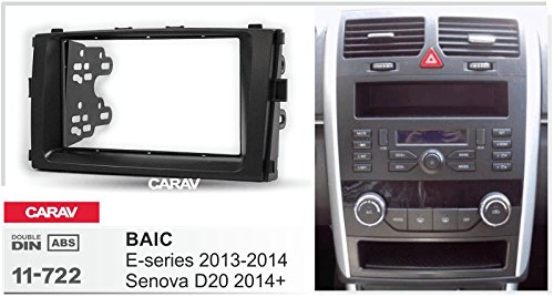 Carav 11-722 Double Din Car Dash Installation Kit Radio Stereo Face Facia Fascia Panel Frame DVD Dash Stereo Install Kit for BAIC E-series 2013-2014 Senova D20 2014+with 17398mm 178100mm 178102mm