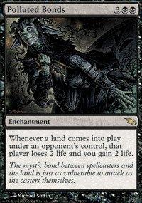 MTG Magic The Gathering Polluted Bonds Shadowmoor HP