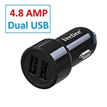 VeeDee VCC02 Dual Port 48A Output Car Charger Black