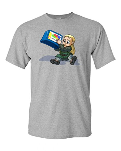 Legoless LOTR Parody DT Adult T-Shirt Tee (XXXXX Large, Sports Gray)