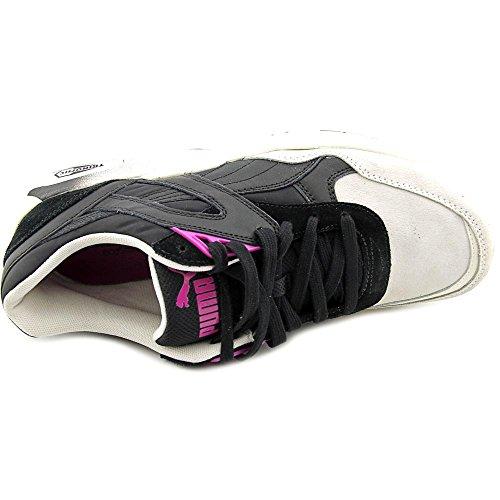 Puma R698 Blocks and Stripes Mujer Negro Piel Zapatillas EU 40