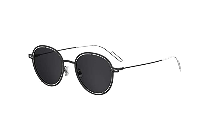 056c379f0a5 Image Unavailable. Image not available for. Color  Dior Homme 0210S S8JY1  Palladium Black 0210S Round Sunglasses Lens Category 3 S