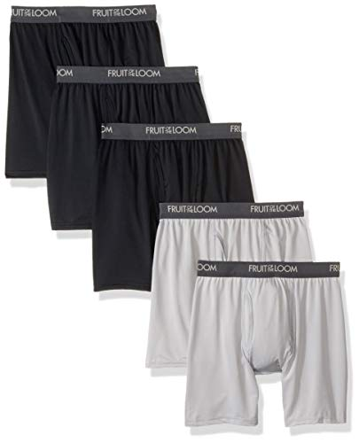 Fruit of the Loom Men's Micro-Stretch Boxer Briefs, Assorted, Small