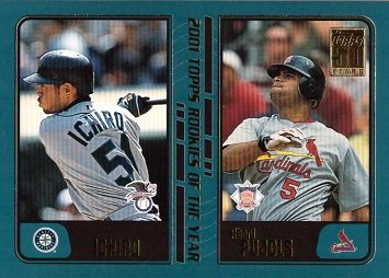 - 2001 Topps Traded Baseball #T99 Ichiro Suzuki / Albert Pujols Rookie of the Year Baseball Card