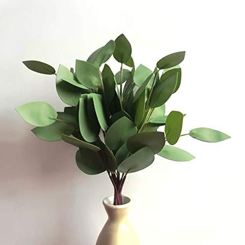 (Satori Store Fake Eucalyptus Leaves - Faux Spray of Artificial Silk Greenery Decor with Stems - DIY Wreath Garland)