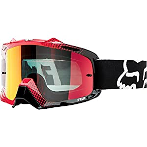 Fox Racing AIRSPC Sand 360 Race Adult Dirt Bike Motorcycle Goggles Eyewear - White-Red/Red Spark / One Size Fits All