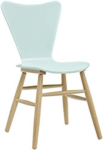 Modway Chaise de Salle à Manger, Bois, Bleu Clair
