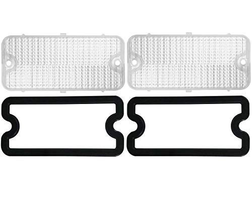 United Pacific (2) 1967-1968 Chevy Truck Parking Light Lenses with Gaskets, Clear Lens, Pair